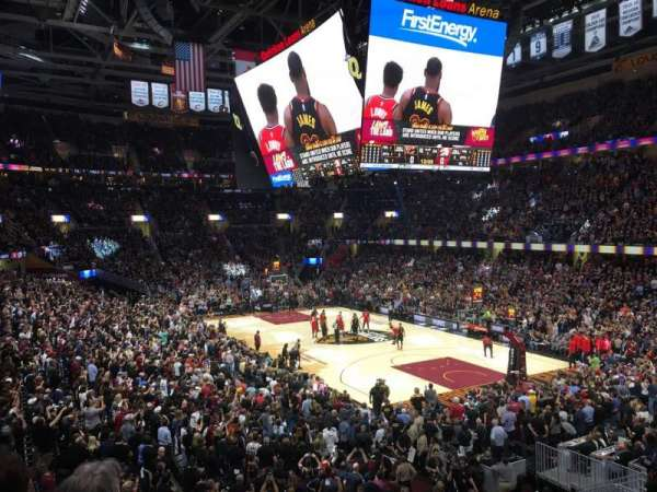 Quicken Loans Arena, section: 113, row: 18, seat: 6