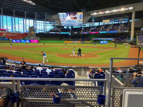 Marlins Park, section: 16, row: B, seat: 1