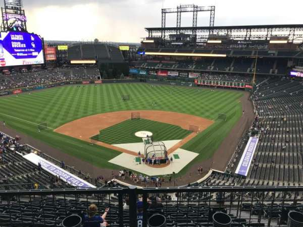 Coors Field, section: U332, row: 11, seat: 6