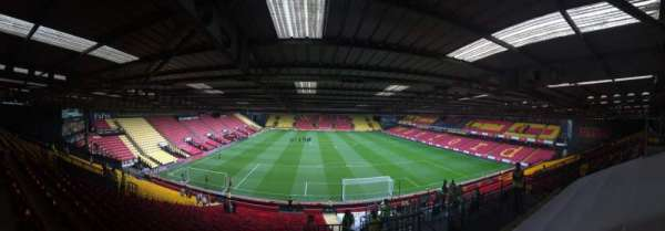 Vicarage Road, section: VR2, row: Y, seat: 70