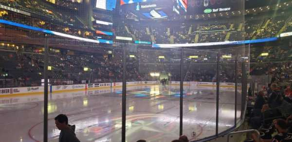Nationwide Arena, section: 107, row: F, seat: 8