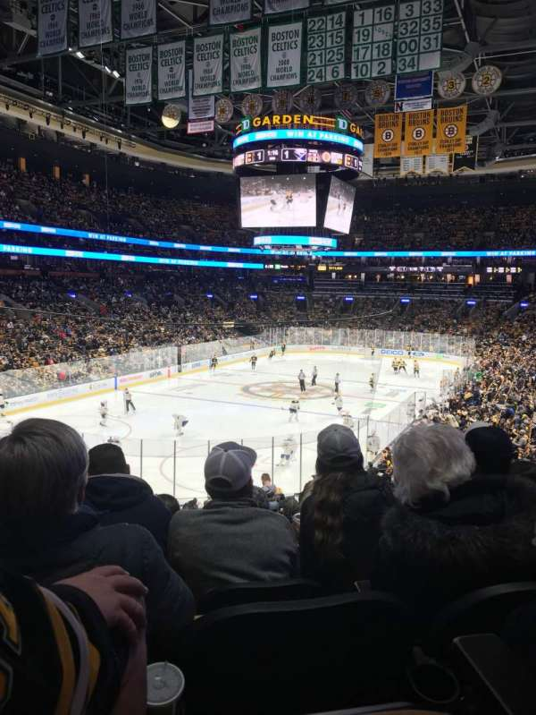 TD Garden, section: Loge 5, row: 26, seat: 15