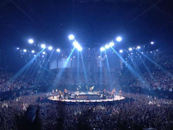 The O2 Arena, section: 106, row: N, seat: 198