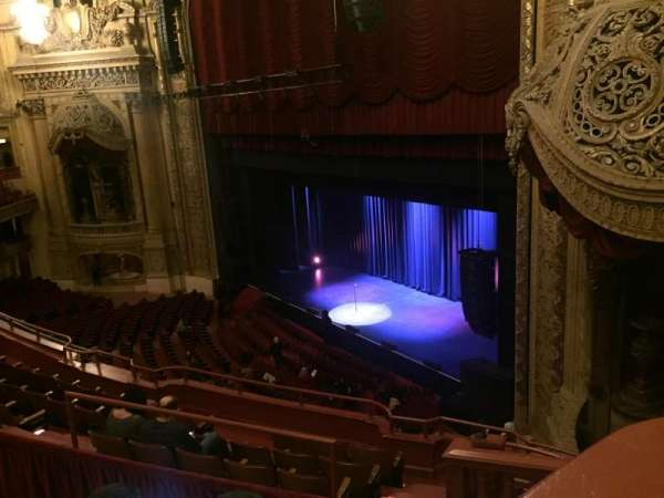 Chicago Theatre, section: Balcony Box 11, row: A, seat: 20