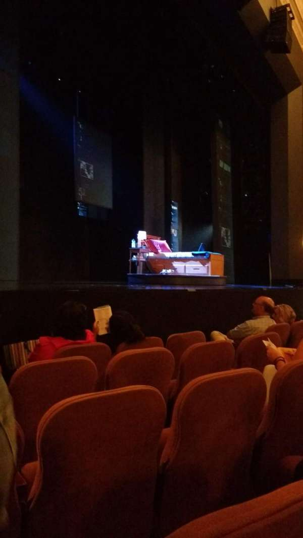 Music Box Theatre, section: Orchestra left, row: E, seat: 15