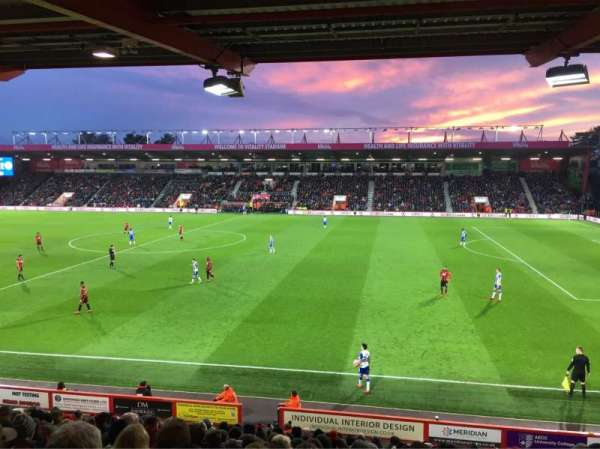 Vitality Stadium, section: 18, row: R, seat: 69