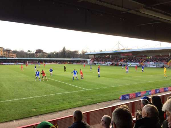 Broadfield Stadium, section: Away Terrace, row: Back Row