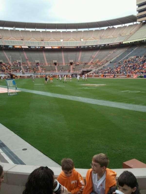 Neyland Stadium, section: P, row: 3, seat: 8