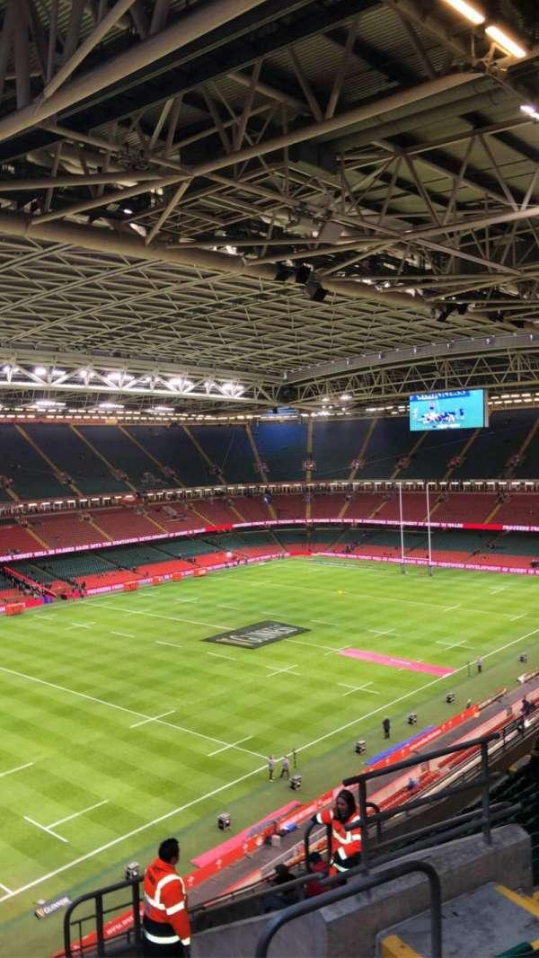 Principality Stadium, section: U35, row: 16, seat: 22