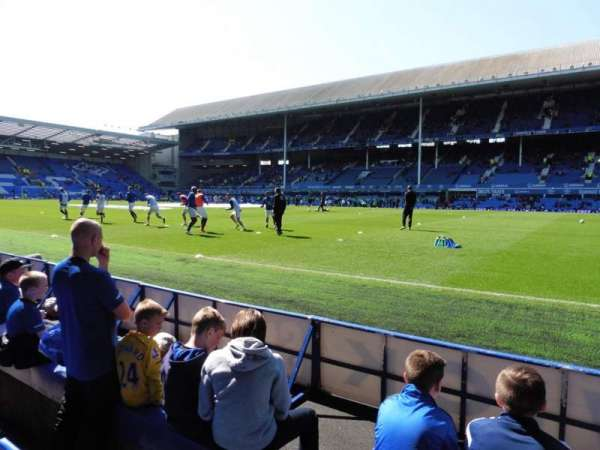 Goodison Park, section: Paddock, row: B, seat: 222