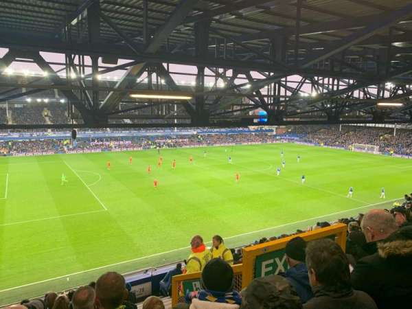 Goodison Park, section: UV1, row: Q, seat: 52