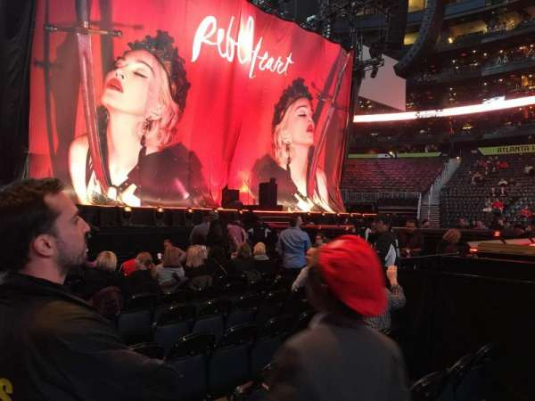 State Farm Arena, section: 116, row: A, seat: 4