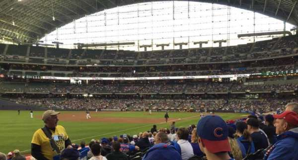 Miller Park, section: 128, row: 14, seat: 4