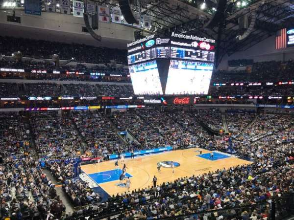 American Airlines Center, section: 212, row: A, seat: 10