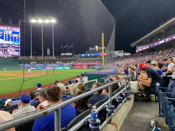 Kauffman Stadium, section: 131, row: B, seat: 2