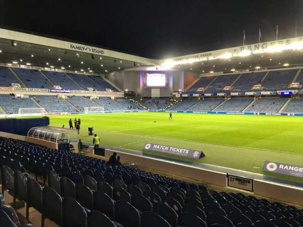 Ibrox Stadium, section: SE4, row: Q, seat: 098
