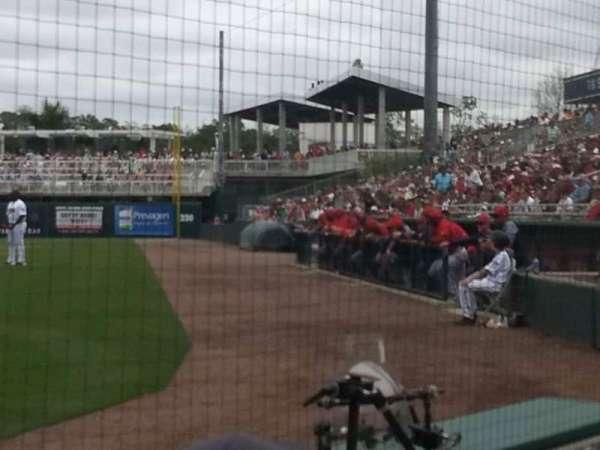 Hammond Stadium, section: 108, row: 1, seat: 5