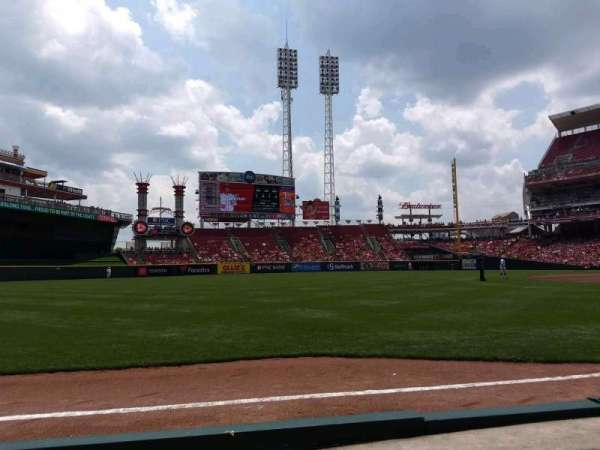 Great American Ball Park, section: 111, row: B, seat: 7