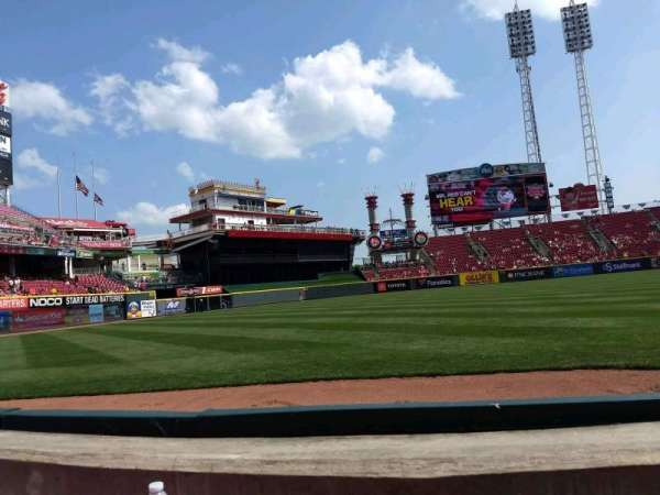 Great American Ball Park, section: 111, row: B, seat: 5