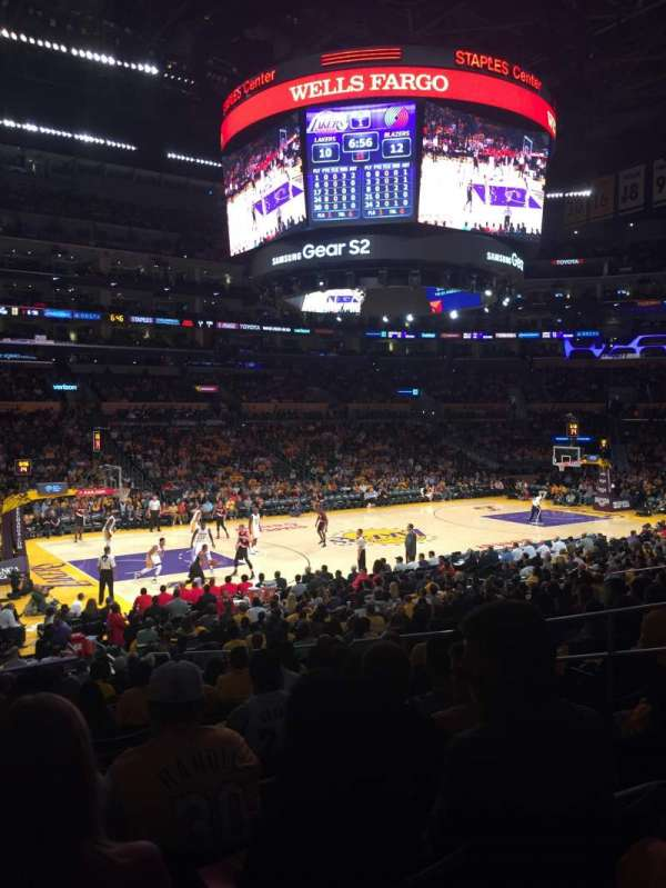 Staples Center, section: 103, row: 20, seat: 9