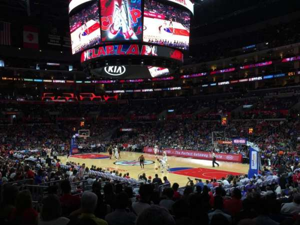 Staples Center, section: 108, row: 16, seat: 19
