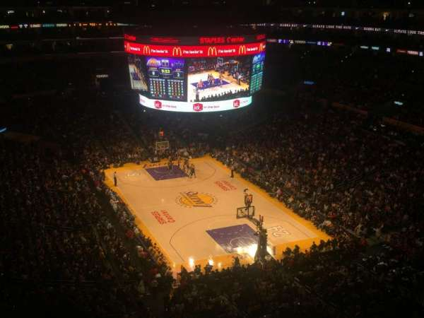 Staples Center, section: 329, row: 4, seat: 3