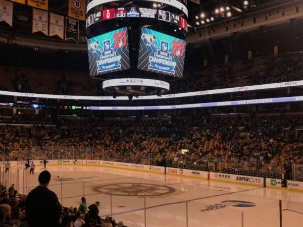 TD Garden, section: Loge 9, row: 14, seat: 1