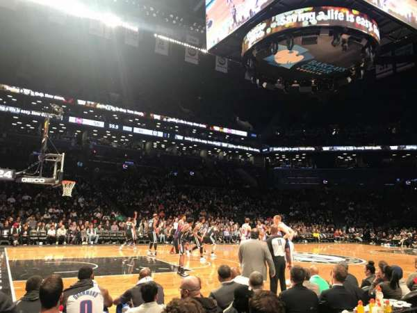 Barclays Center, section: 25, row: 1, seat: 1