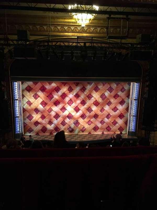 Brooks Atkinson Theatre, section: Rear Mezzanine LC, row: F, seat: 109