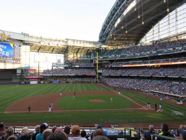 Miller Park, section: 224, row: 7, seat: 1