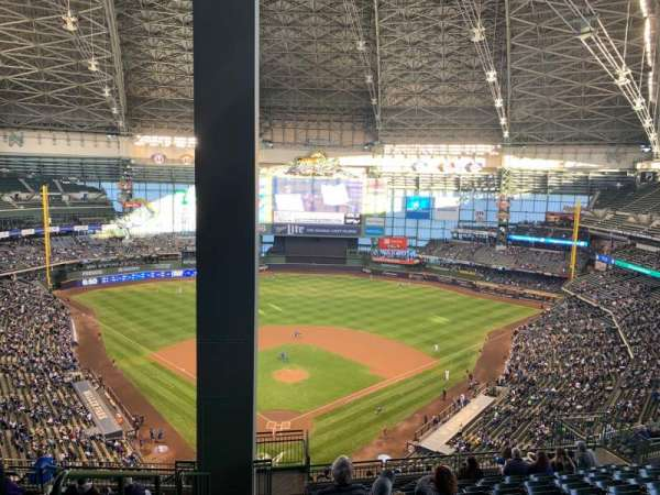Miller Park, section: 421, row: 20, seat: 1