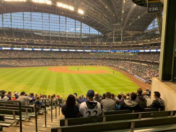 Miller Park, section: 236, row: 16, seat: 20
