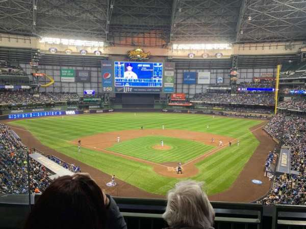 Miller Park, section: 331, row: 2, seat: 9