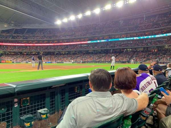 Minute Maid Park, section: 110, row: 2, seat: 12