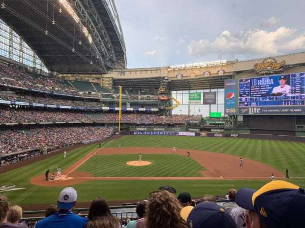 Miller Park, section: 214, row: 6, seat: 8