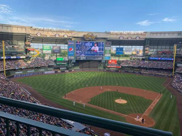 Miller Park, section: 425, row: 1, seat: 4