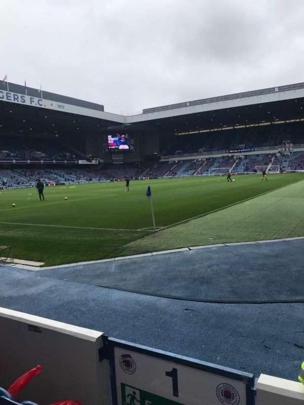 Ibrox Stadium, section: Bf1, row: D, seat: 2