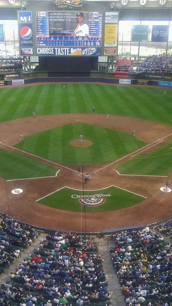 Miller Park, section: 422, row: 1, seat: 1