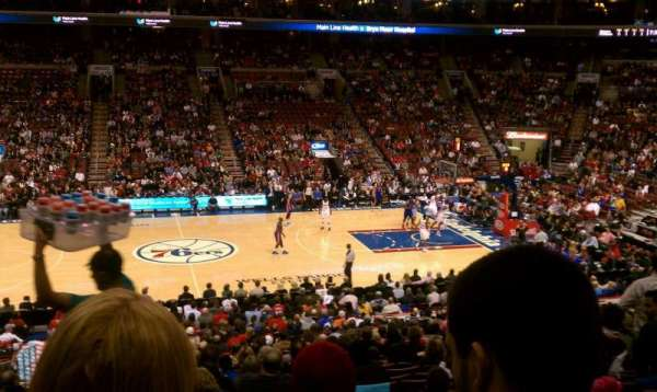 Wells Fargo Center, section: Club Box 13, row: 1, seat: 4