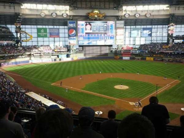 Miller Park, section: 332, row: 5, seat: 4