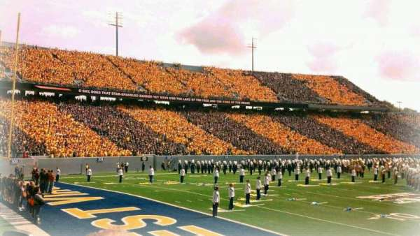 Mountaineer Field, section: senior spirit, row: 4