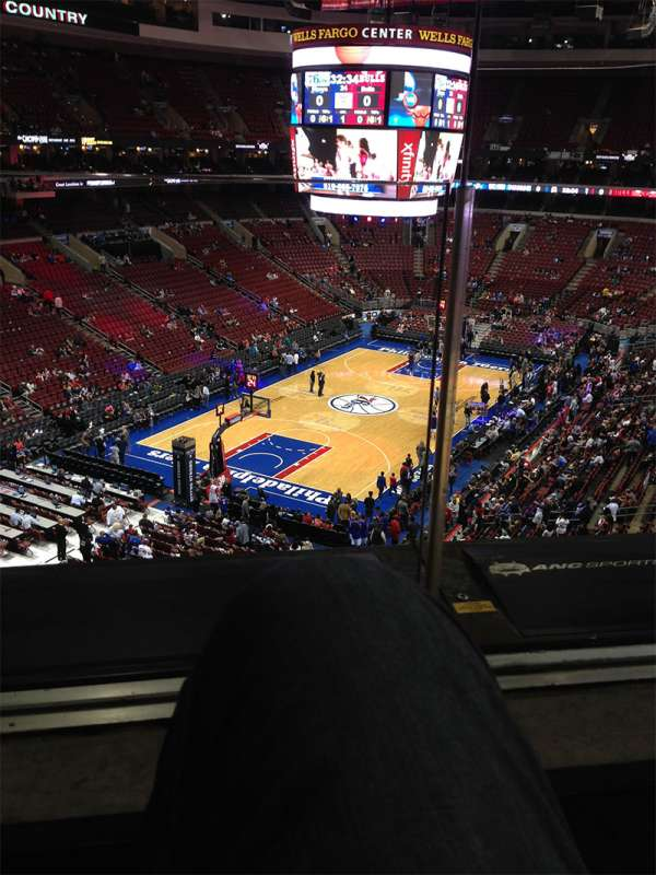 Wells Fargo Center, section: 221, row: 1, seat: 13