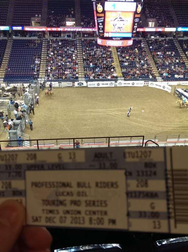 Times Union Center, section: 208, row: G, seat: 13