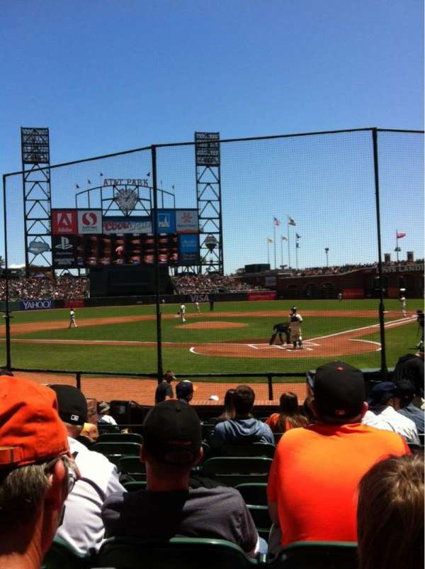 AT&T Park, section: 117, row: G, seat: 7