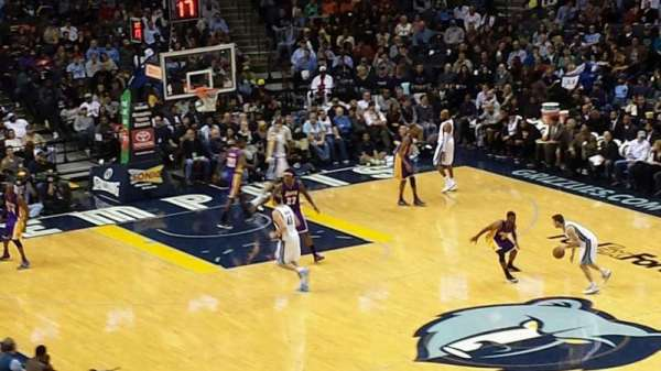 FedEx Forum, section: 116A, row: EE, seat: 2