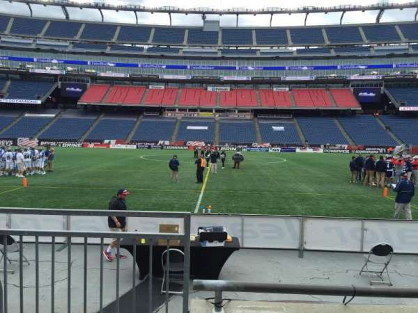 Gillette Stadium, section: 109, row: 3, seat: 20