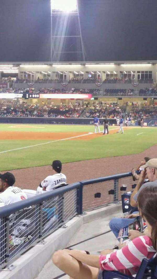 First Horizon Park, section: 105, row: F, seat: 21