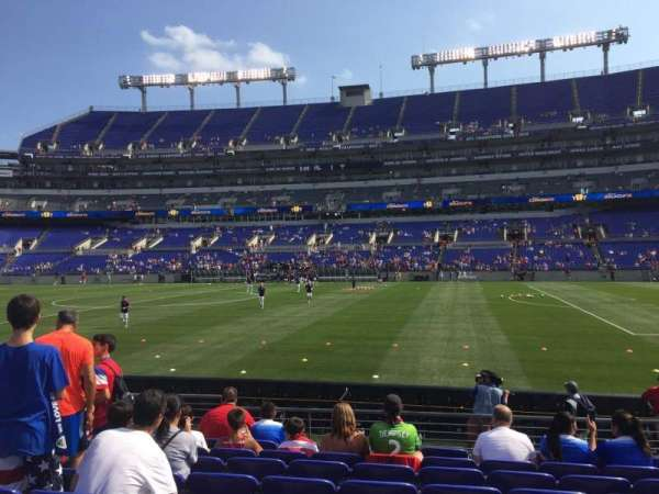 Mt Bank Stadium Section 151 Row 9 Home Of Baltimore Ravens