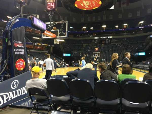 FedEx Forum, section: 110, row: A, seat: 5