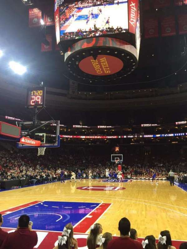 Wells Fargo Center, section: 120, row: B, seat: 8